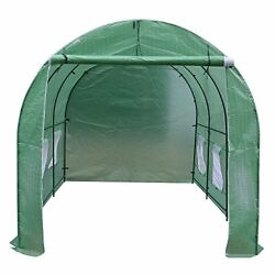 BenefitUSA Cover Canopy Replacement For Hot Green House 12'X7'X7' Larger Walk...