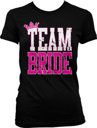 Distressed Team Bride Bachelorette Wedding Party Juniors T shirt $22.95