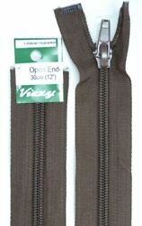 Vizzy Open End Zip 30cm 14 BROWN A Quality Brand Name Zipper
