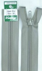 Vizzy Open End Zip 65cm Colour 61 PEARL GREY A Quality Brand Name Zipper
