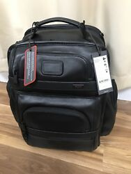 NWT Tumi Alpha 2 T-Pass Business Class Leather Backpack Black 96578D2 $675