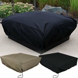 Sunnydaze Fire Pit Cover Square - Weather-Resistant - Choose Size and Color