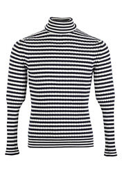 New TOM FORD Blue White Turtleneck Sweater Size 48  38R U.S. In Cashmere Ble...