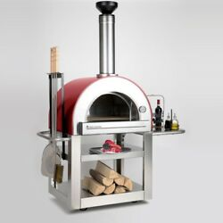 Wood Burning Oven Italian Cooking Outdoor Built In Thermometer Tool Holder