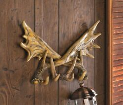 Faux Antler Wall Hooks for Keys Bath Kitchen or Entryway Rustic Lodge Decor