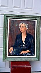 CHARLES G.ARGALL(1893-1956LISTED) OIL ON CANVAS PORTRAIT OF JUDITH AMES COOKE