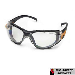 Elvex Go Specs Safety Glasses Goggles Clear Anti Fog Lens with Foam Line Z87.1 $9.75