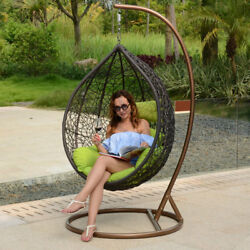 Hanging Hammock Proch Swing Outdoor Wicker Rattan Basket Chair with Free Cover