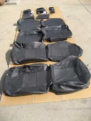 2008-2009 HUMMER H2 LEATHER SEAT COVERS FULL SET FACTORY OEM BLACK