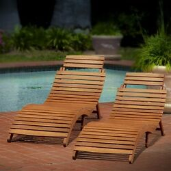 Outdoor Chaise Lounge Chair Chairs Set of 2 Pool Patio Beach Folding Portable