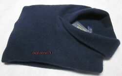 NWT Polo Ralph Lauren cashmere wool shawl sweater Aviator Navy  Italian Yarn XL