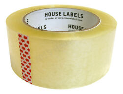 2 Rolls of Clear Packing Shipping Tape Strong 2