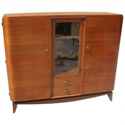 French Art Deco Mahogany Bookcase style Maxime Old Circa 1940s  AS IS