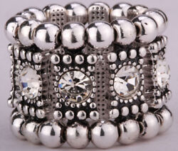 Stretch band rings fit finger size 7 to 9 jewelry gift women her A1 scarf holder
