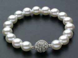 AAAA 10mm white South Sea Shell Pearl Bracelet 7.5