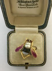 A Stunning Enamel & Banded Agate Bug Ring Circa 1800's