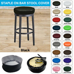 Bar Stool Cover Heavy Duty STAPLE ON Round Vinyl Replacement Top - Waterproof $14.99