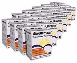 GenUltimate! Test Strips for use with OneTouch Ultra Meters  LOT OF 24 BOXES