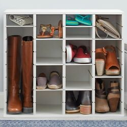 Real Simple Shoe Organizer in White