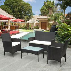 Patio Furniture Sets Clearance Outdoor Bistro Dining 4 Piece Table Chairs Garden