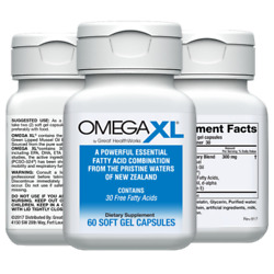 Omega XL 60ct by Great HealthWorks: Small Potent Joint Pain Relief Omega 3 $37.00