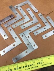 40PCS: 2quot;3quot; OR 4quot; Steel FLAT quot;Lquot; BRACKET Corner Braces Right Angle *USA Seller