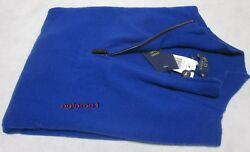 $425 POLO RALPH LAUREN 100% cashmere Italian Yarn  half zip SWEATER XL  Blue
