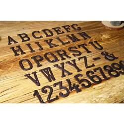 HOT Cast Wrought Iron Black Antique House Door Alphabet Letters and Numbers $2.49