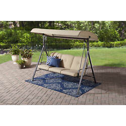 Patio Swings For Adults Outdoor Backyard Furniture Lawn Canopy 3 Seat Cushion