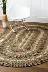 Homespun Braided Durable Outdoor Rug in Natural Earth