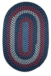 Homespun Braided Durable Outdoor Rug in Evening Sky