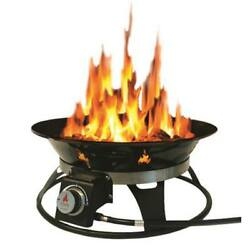 Cypress 21 in. Steel Portable Propane Outdoor Backyard Fire Pit Cover Carry Kit