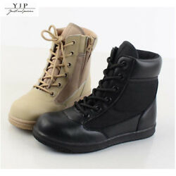 YJP Kids Child Boys Girls Tactical Combat Boots High Top Military Outdoor Shoes