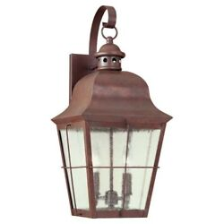 Sea Gull Lighting 8463-44 Colonial Styling 2-Light Outdoor Lantern Wall Sconce