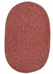 Softex Check CX17 Soft Indoor & Outdoor Braided Sangria Check Reversible Rug