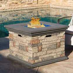 Oliver and James Fernando 32-inch Outdoor Propane Fire Pit