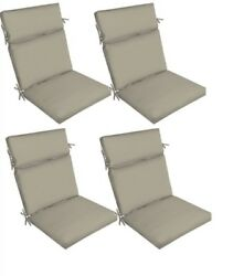 Grey Replacement Patio Cushion Set of 4 Gray Outdoor Yard Dining Seat Chair Pads