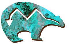 Wall Bear Fetish Bear Claw Turquoise Indian SOUTHWEST Decor Petroglyph Decals $15.99