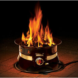 Propane Fire Pit w Cover Carry Kit 19 in Steel Portable Firebowl Outdoor New