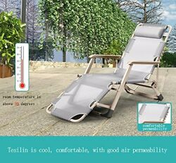 Lounge Chair Recliner Couch Portable Folding Chaise Bed for Beach Yard Pool