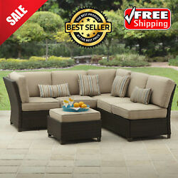 Outdoor Sectional Sofa Set Couch Wicker Furniture Better Homes Gardens Patio