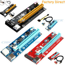 USB 3.0 Pcie PCI E Express 1x To 16x Extender Riser Card Adapter Power BTC Cable $5.49