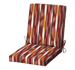 Striped Replacement Patio Chair Cushion Outdoor Deck Dining Cushions Seat Pads
