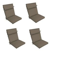Brown Patio Dining Chair Cushion Set of 4 Outdoor Replacement Cushions Thick