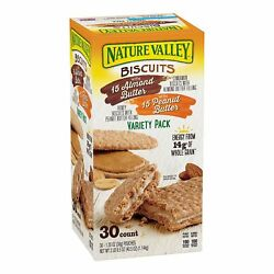 Nature Valley Biscuit Sandwich Almond Butter amp; Peanut Butter Variety Pack $19.60