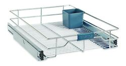 Real Simple Sliding Under Cabinet 14 Inch Organizer In Chrome Easy To Install