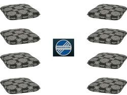 Set Of 8 Dining Seat Pad Cushion Chair Patio Garden Outdoor Room Medallion