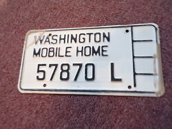 1960's - 1970's  Washington State Manufactured Home License Plate ------ 57870 L