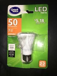 Great Value LED Light Bulb 7W 50W Equivalent Dimmable W $12.00
