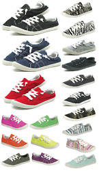 New Womens Lace Up Canvas Shoes Casual Comfy Slip On Sneakers Size 5 11 $21.95
